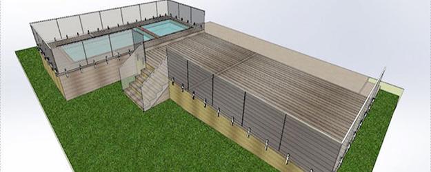 decking garden balustrade 1