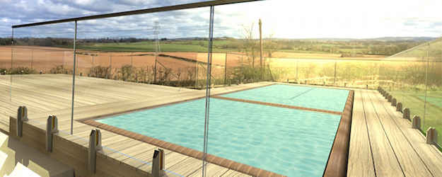 pool fencing glass balustrade