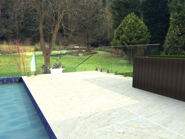 stylish frameless glass balustrade for a swimming pool railing