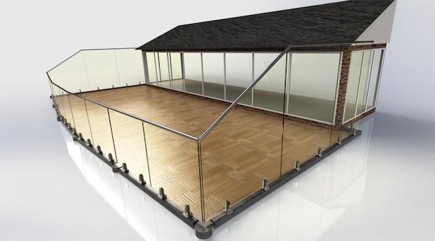 A bespoke glass balcony design solution