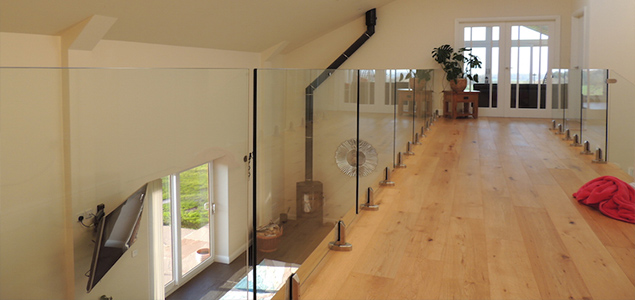 indoor glass balustrade