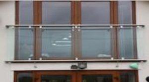 A Semi Framed Glass Juliette Balcony