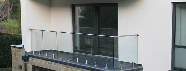 Glass Balustrade at a new build home