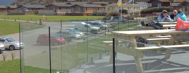 glass balustrade installed at a leisure centre