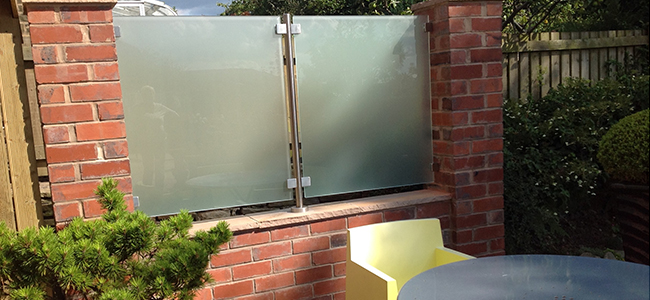 bespoke glass balustrade with opaque glass
