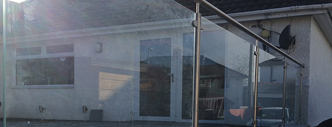 Safety glass type used on balustrades