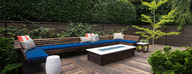 outdoor decking area