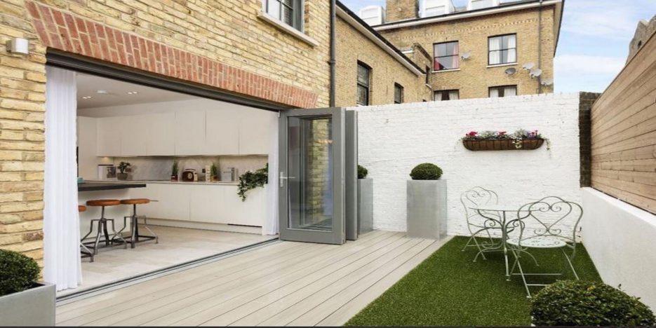 Composite Decking with Bi-Folding Doors