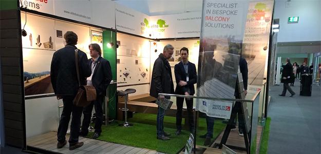 elite outdoor living at ecobuild exhibition