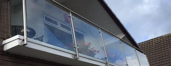 framed balustrade balcony