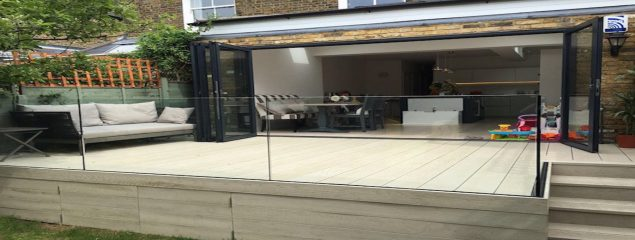 Frameless Glass Balustrade on Decking