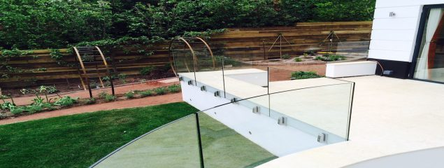 Side mounted frameless glass balustrade