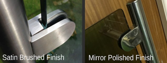 Satin brushed and mirror polished stainless steel finishes for exterior balustrades