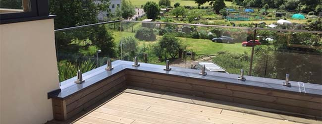 why choose our frameless mini post glass balustrade system frameless example