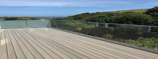 Mini-Post Frameless Glass Balustrade overlooking Alderney