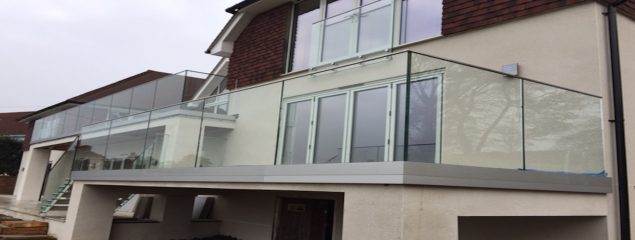 Channel frameless glass balustrade