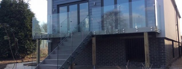 Frameless Glass Balustrade with Stand Off Clamps