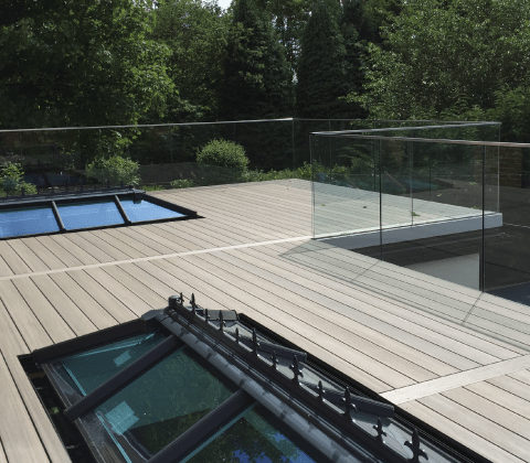 Frameless Glass Balustrade - Side Mount U Shape Glazing Channel
