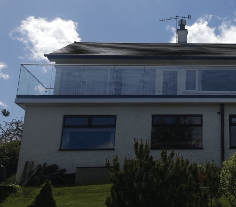 Frameless Glass Balustrade - Side Mount Y Shape Glazing Channel