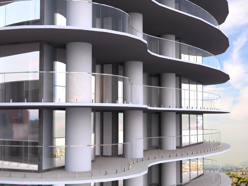 Bespoke Balustrade - Curved Mini Post