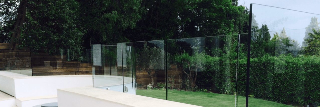 Mini Post glass railing, glass balcony, glass balustrade