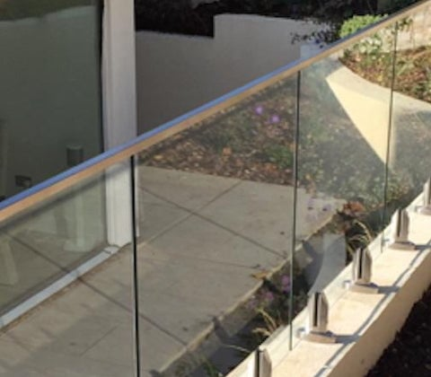 Square Profile Glass Balcony Railing